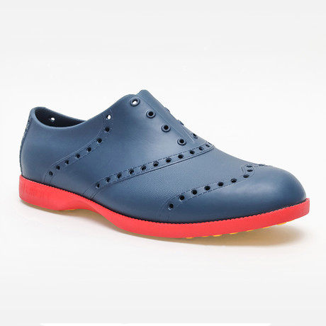 Brights Oxford // Navy + Red (US: 7)