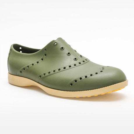 Brights Oxford // Green + Khaki (US: 7)