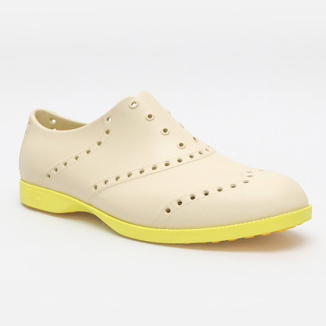 Brights Oxford // Khaki + Neon Green (US: 7)