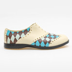 Patterns Argyle Oxford // Off-White + Brown + Blue (US: 9)