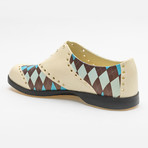 Patterns Argyle Oxford // Off-White + Brown + Blue (US: 10)