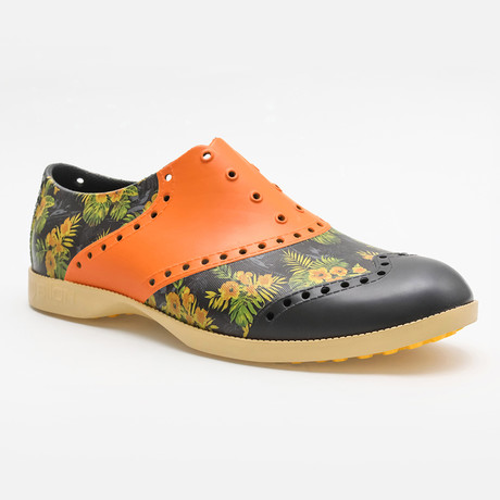 Patterns Luau Oxford // Black + Yellow Multi (US: 7)