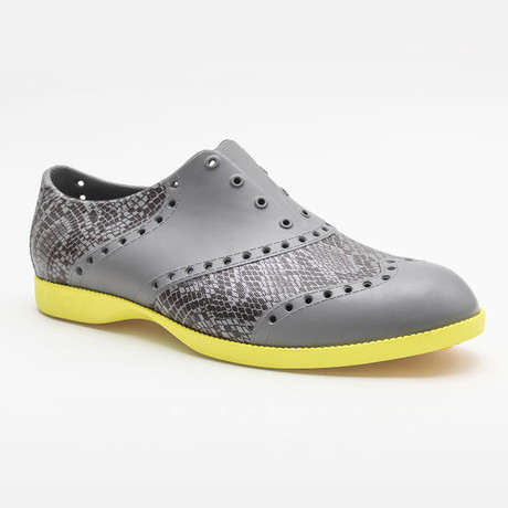 Patterns Snake Oxford // Gray + Yellow (US: 7)