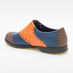 Wingtips Oxford // Orange + Brown + Navy (US: 9)