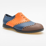 Wingtips Oxford // Orange + Brown + Navy (US: 11)