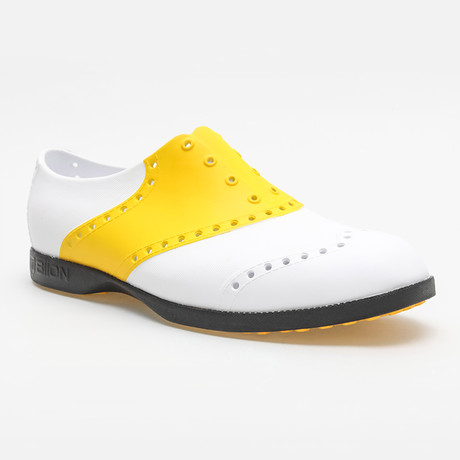 Saddles Oxford // White + Yellow (US: 7)