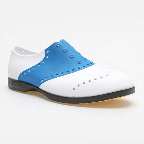 Saddles Oxford // White + Blue (US: 7)