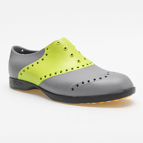 Saddles Oxford // Cool Gray + Lime (US: 7)