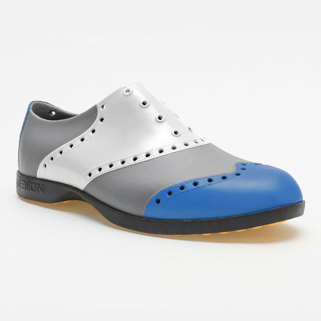 Wingtips Oxford // Blue + White + Silver (US: 7)