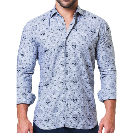 Fibonacci Rocker Dress Shirt // Gray (S)