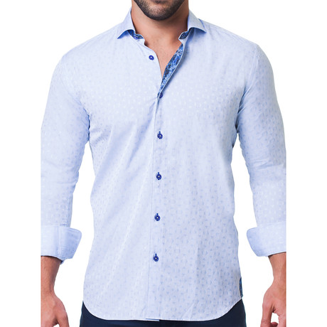Einstein Crosswise Dress Shirt // Blue (S)