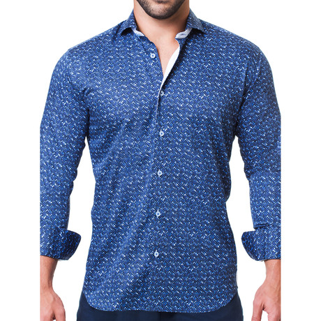 Einstein Weave Dress Shirt // Navy (S)