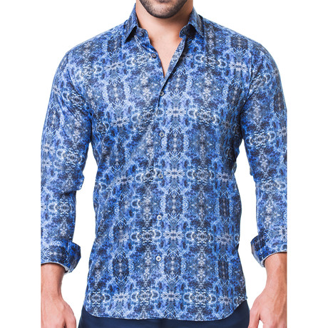 Fibonacci Desigual Dress Shirt // Blue (S)