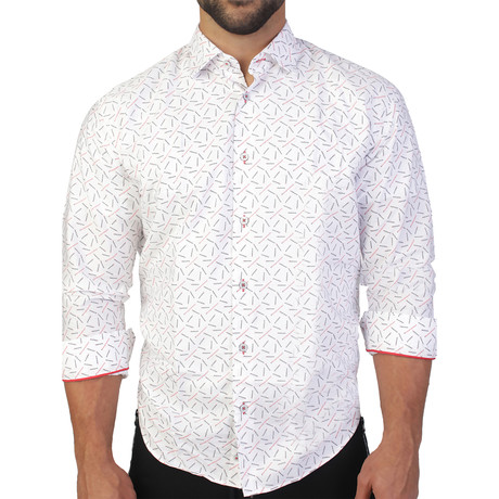 Fibonacci Cancer Dress Shirt // White (S)