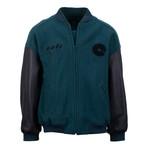 Yeezy // Season 5 Classic Bomber Jacket // Emerald Green + Black (XL)