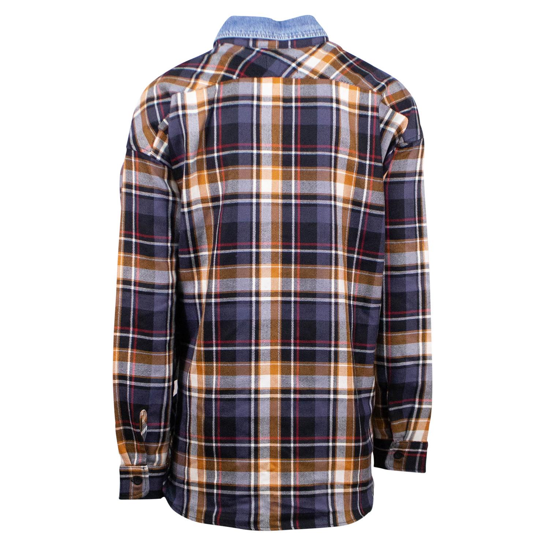 d537f9abcb Fear Of God    Purple Plaid Oversized Denim Collared Flannel Shirt     Purple (