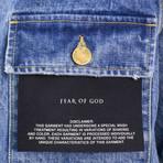 Fear Of God // Vintage Slevedge Denim Long Trucker Jacket // Indigo (L)
