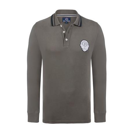 Long Sleeve Polo Shirt // Khaki (XS)