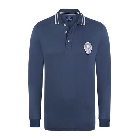 Long Sleeve Polo Shirt // Indigo (XS)