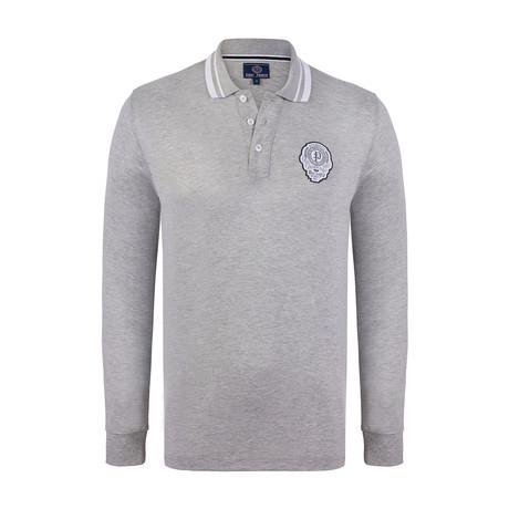 Long Sleeve Polo Shirt // Grey Melange (XS)