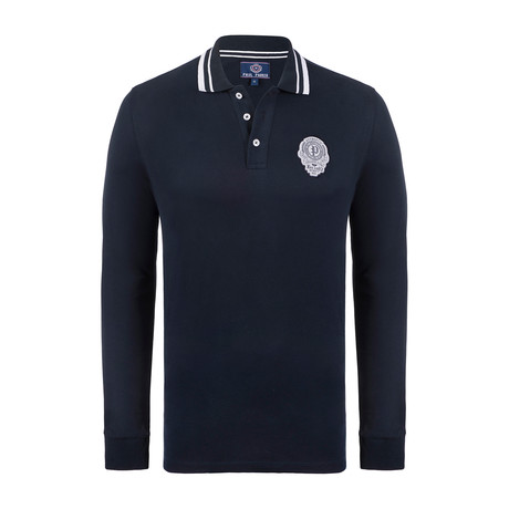 Paul Parker Long Sleeve Polo Shirt // Navy (XS)