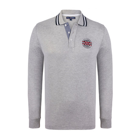 University Long Sleeve Polo Shirt // Gray Melange (XS)