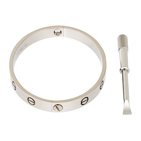 Vintage Cartier 18k White Gold Love Bracelet
