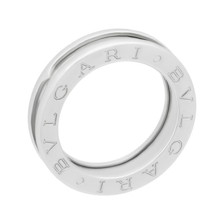 Bulgari 18k White Gold B.Zero1 One Band Ring//Ring Size: 4.75 // Pre-Owned