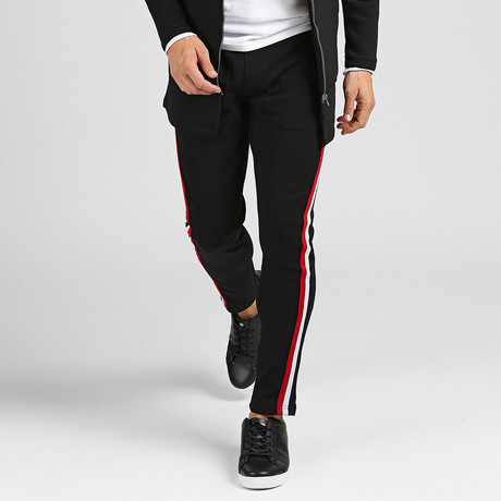 Thackery Track Pants // Black (XS)