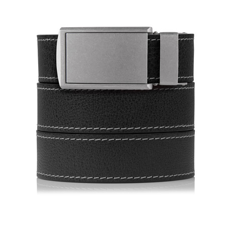 CS Full Grain (Ash Contrast Stitched Full Grain Leather + Zinc Buckle)