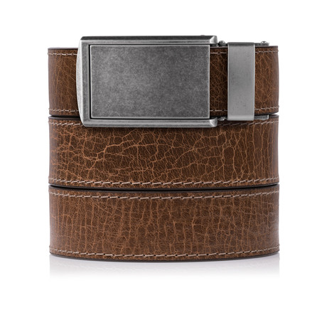 Rustic Full Grain (Hickory Rustic Full Grain Leather + Graphite Buckle)