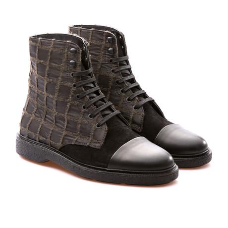 Philippe Cap Toe Boot // Black + Khaki (Euro: 41)