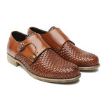 Woven Double Monk Strap // Brown (Euro: 40)