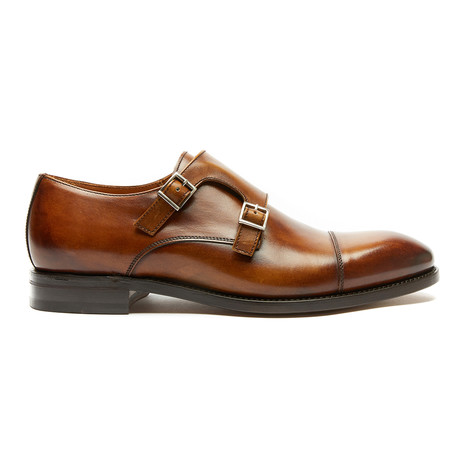 Toe Cap Monk Strap Goodyear // Brown (Euro: 40)