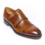Toe Cap Monk Strap Goodyear // Brown (Euro: 46)