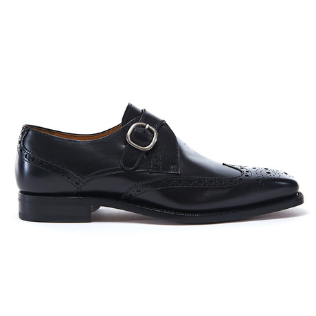 Wing Cap Monk Strap Goodyear // Black (Euro: 40)