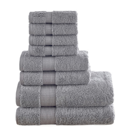 Turkish Cotton 700 GSM // 8 Piece Towel Set (Blue)