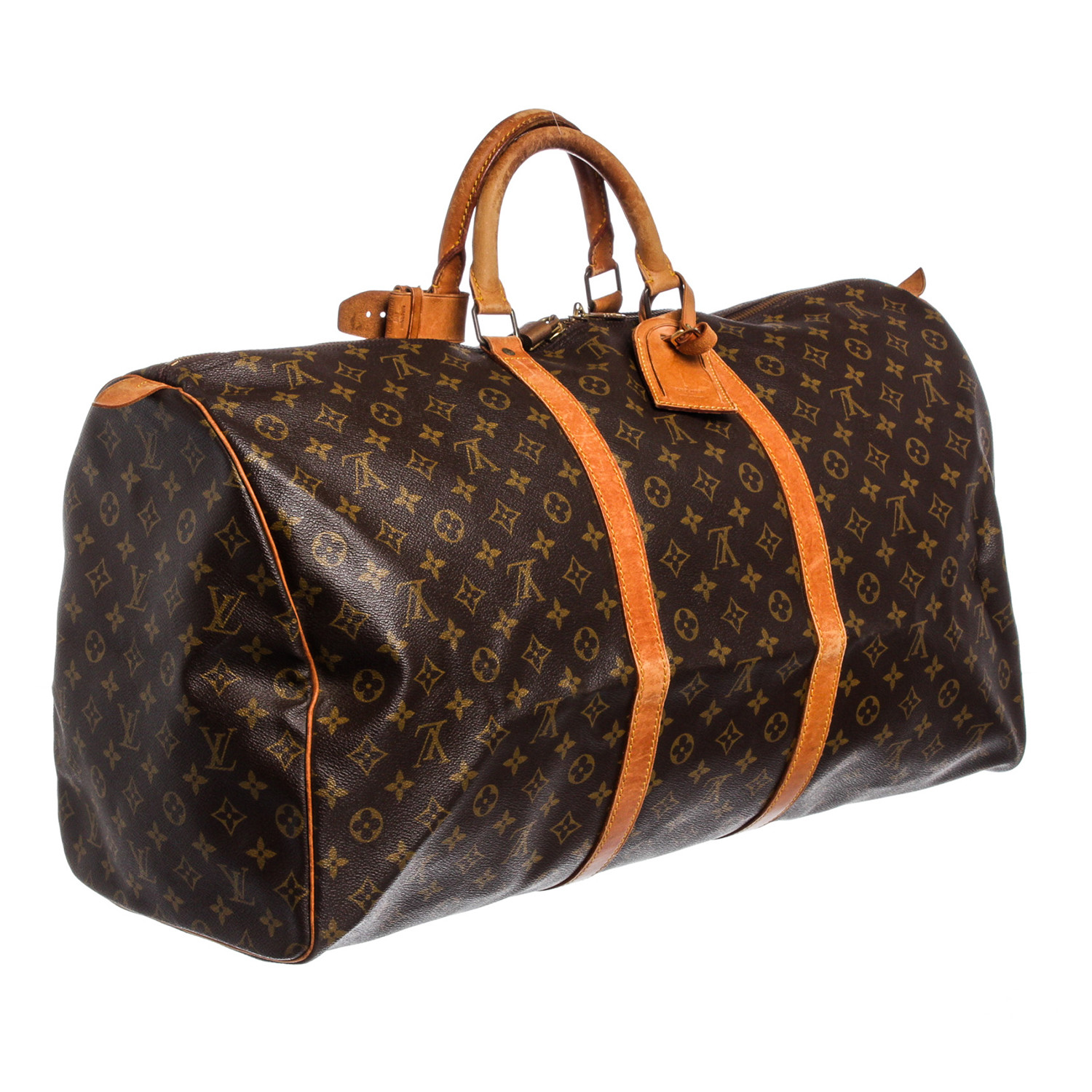 8708ce1d1c1f Canvas Leather Monogram Keepall 60 cm Duffle Bag Luggage    Pre-Owned