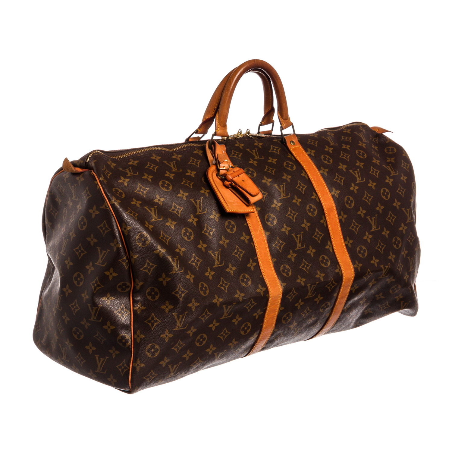 082d4813e076 Monogram Canvas Leather Keepall 60 cm Duffle Bag Luggage    Pre-Owned