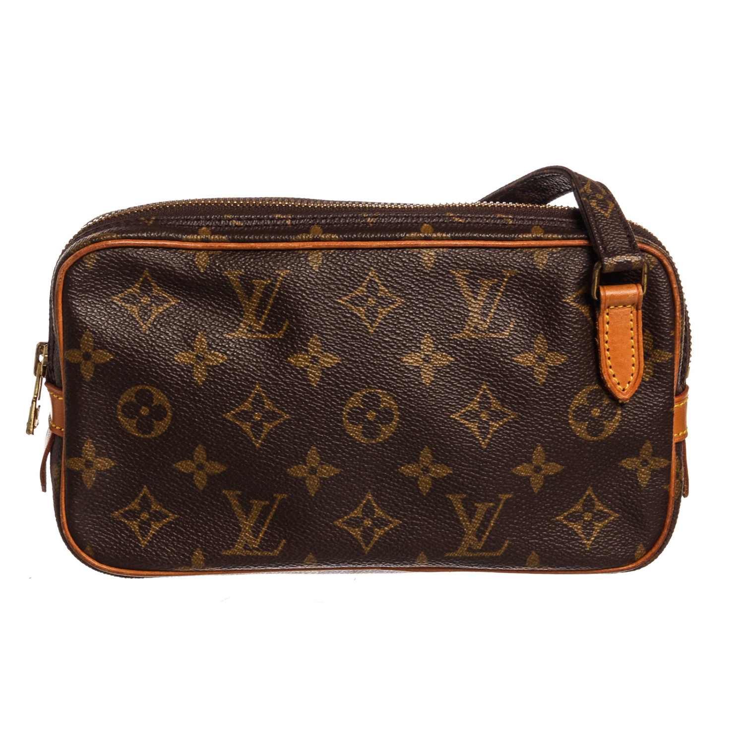 f82d9988489d Canvas Leather Monogram Marly Side Bag    Pre-Owned    TH0920 - Pre ...