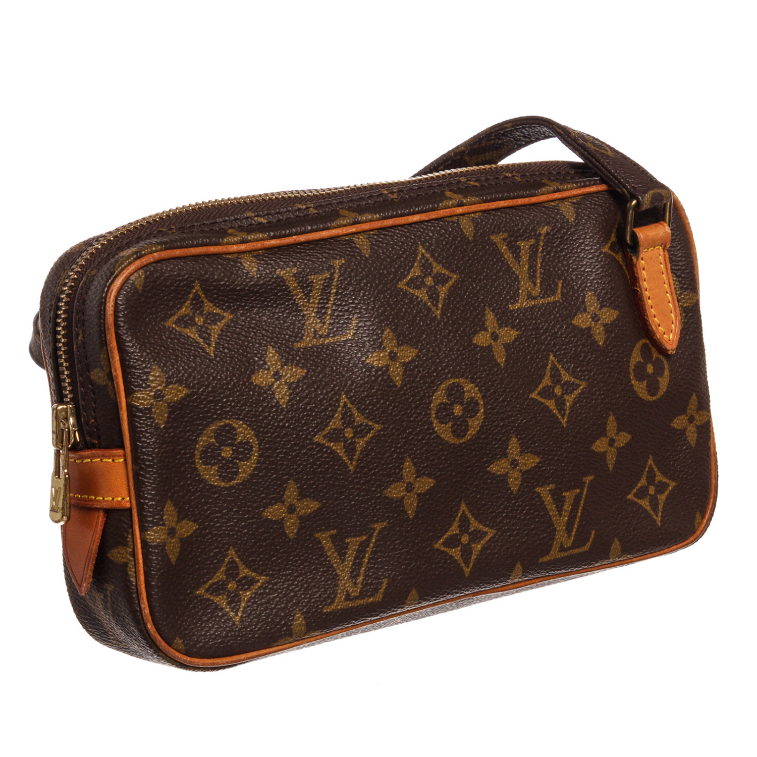 Canvas Leather Monogram Marly Side Bag    Pre-Owned    TH0920 - Pre ... a3436ea19155