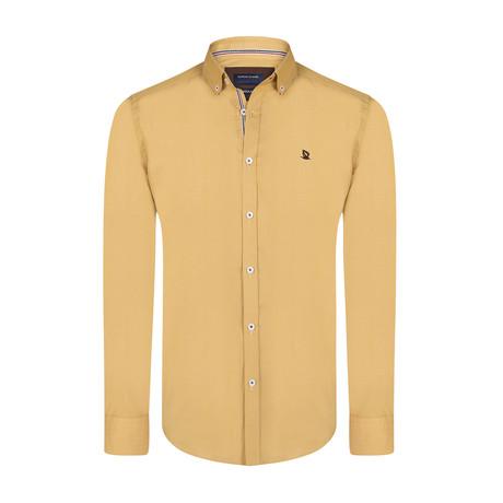 Stan Shirt // Mustard + Brown (XS)
