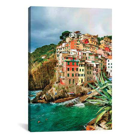 """Coastal Town Of Riomaggiore (One Of the Cinque Terre), La Spezia Province, Liguria Region, Italy // Richard Duval (26""""W x 40""""H x 1.5""""D)"""