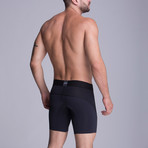 F.E. Long Mesh Boxer // Black (XS)