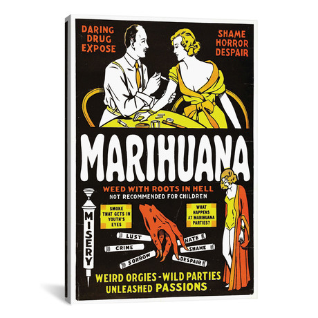 Marihuana Film Poster II by Radio Days