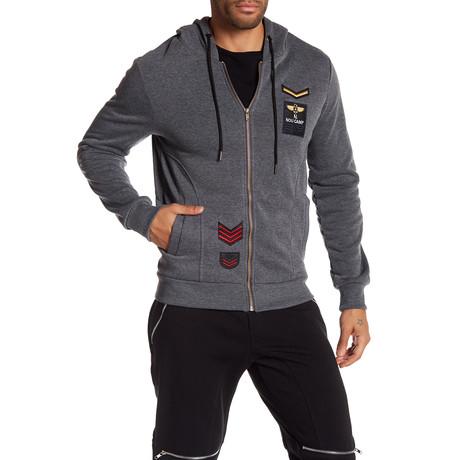Fleece Pilot Jacket // Dark Gray (S)