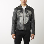 Venom Distressed Leather Jacket // Weathered Black (XS)