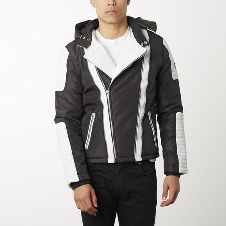 Contrast Parka Jacket // Black + White (XS)