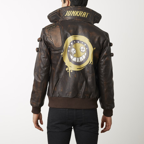 Overwatch Junkrat Distressed Leather Jacket // Brown (XS)