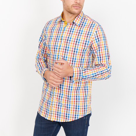 St. Lynn // Stefan French Cuff Button Up // Multicolor (Small)